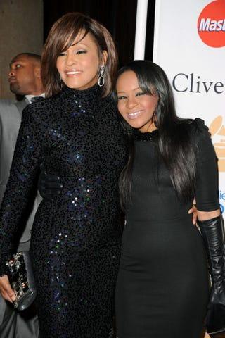 Whitney Houston and her daughter, Bobbi Kristina Brown, in February 2011Jason Merritt/Getty Images