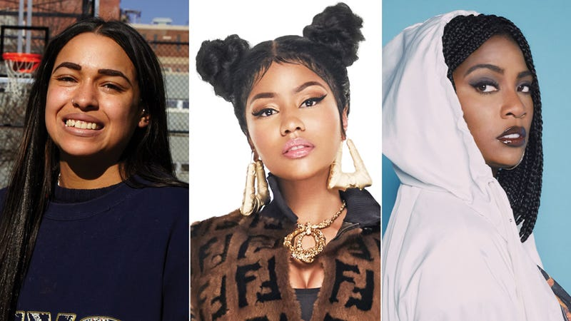 Princess Nokia (Photo: 1992 cover art); Nicki Minaj (Photo: Alex Loucas); and Kamaiyah (Photo: GEEZY/Courtesy of Interscope Records)