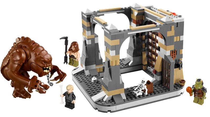 Illustration for article titled Lego Star Wars Rancor Pit Set Needs a Slave Leia Minifig—Urgently