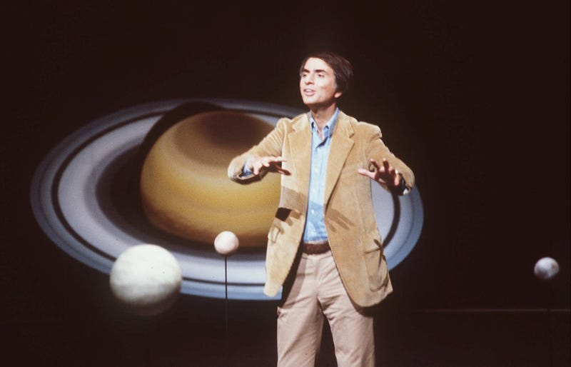Carl Sagan in a photo from 1981 (AP Photo/Castaneda, File)