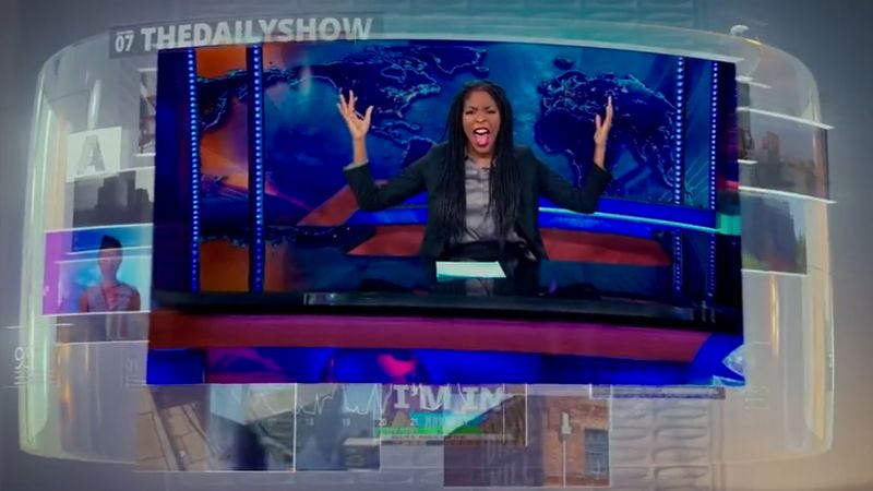 Illustration for article titled Hot Tub Time Machine 2 predicts Jessica Williams will take over The Daily Show
