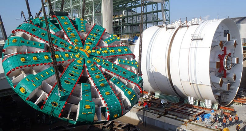 Illustration for article titled Ya se conoce qué está bloqueando a la tuneladora más grande del mundo