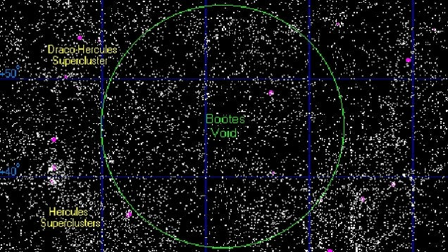 Behold the Boötes void, the spookiest place in the cosmos
