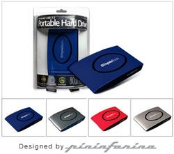 Illustration for article titled Pininfarina-Designed Fabrik SimpleTech Drive Now Comes in 250GB 2-5-inch Portable