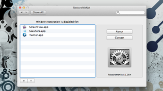 Illustration for article titled RestoreMeNot Keeps Specific Apps from Restoring in Mac OS X Lion