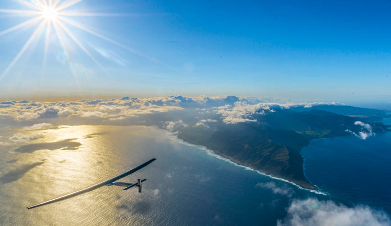 Solar Impulse 2 taking off from Hawaii. Image: Solar Impulse