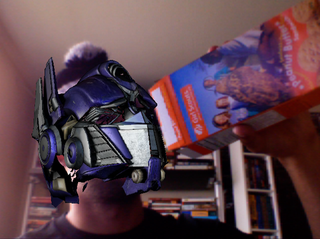 Illustration for article titled You Too Can Wear the Head of Optimus Prime (in Augmented Reality, Of Course)
