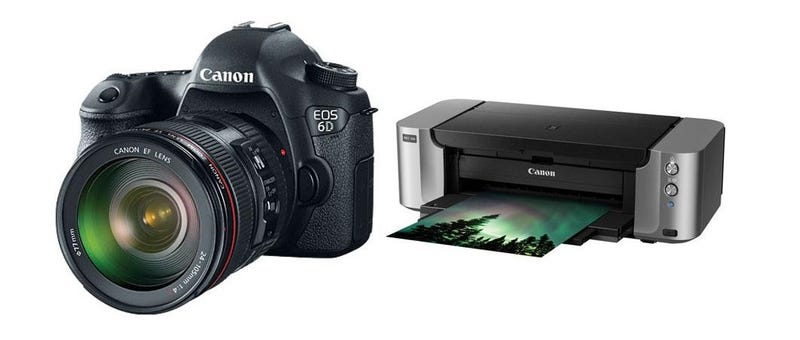 Illustration for article titled Pick Up a Canon EOS 6D DSLR Camera and Pixma Pro-100 Printer for $1999