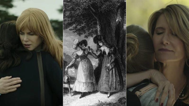 Screenshots via HBO; Sense and Sensibility engraving from the Hulton Archive via Getty.