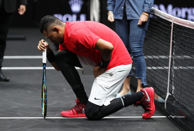 Nick Kyrgios explains the tears after Laver Cup loss to Roger Federer