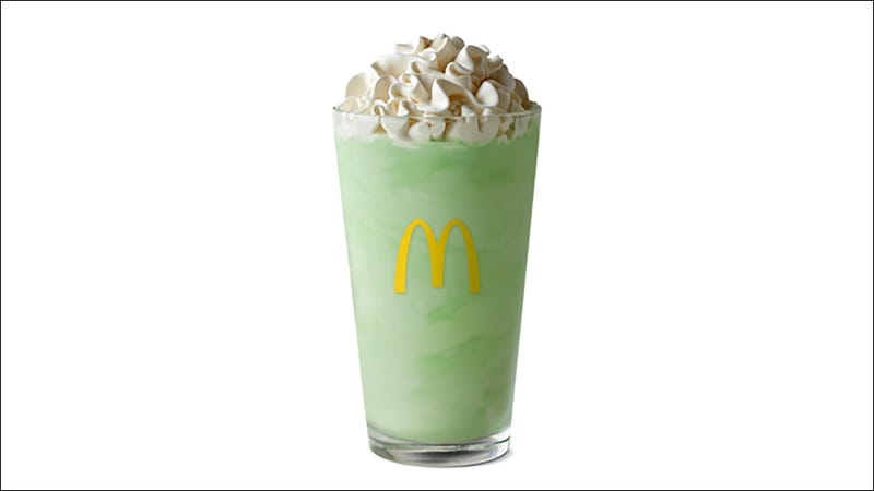 Illustration for article titled McDonald's Shamrock Shake is back (pssst… I've never had one)