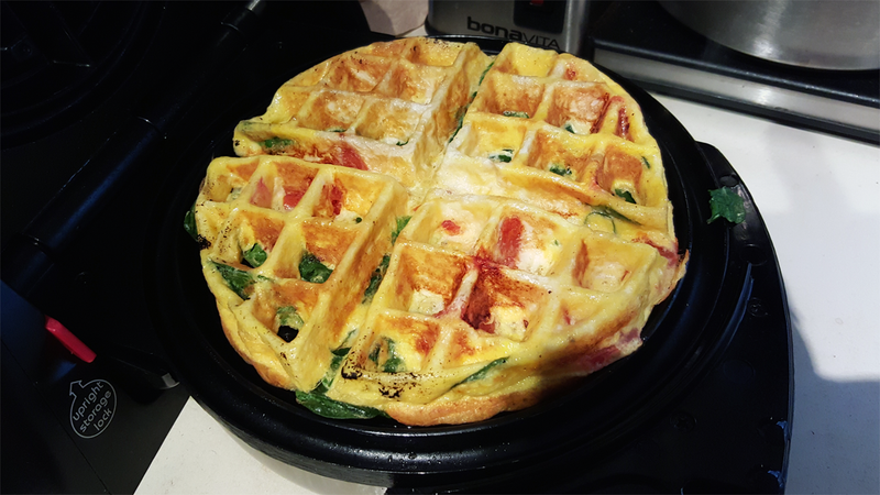 Illustration for article titled Make Fluffy, Quick Frittatas in a Waffle Iron