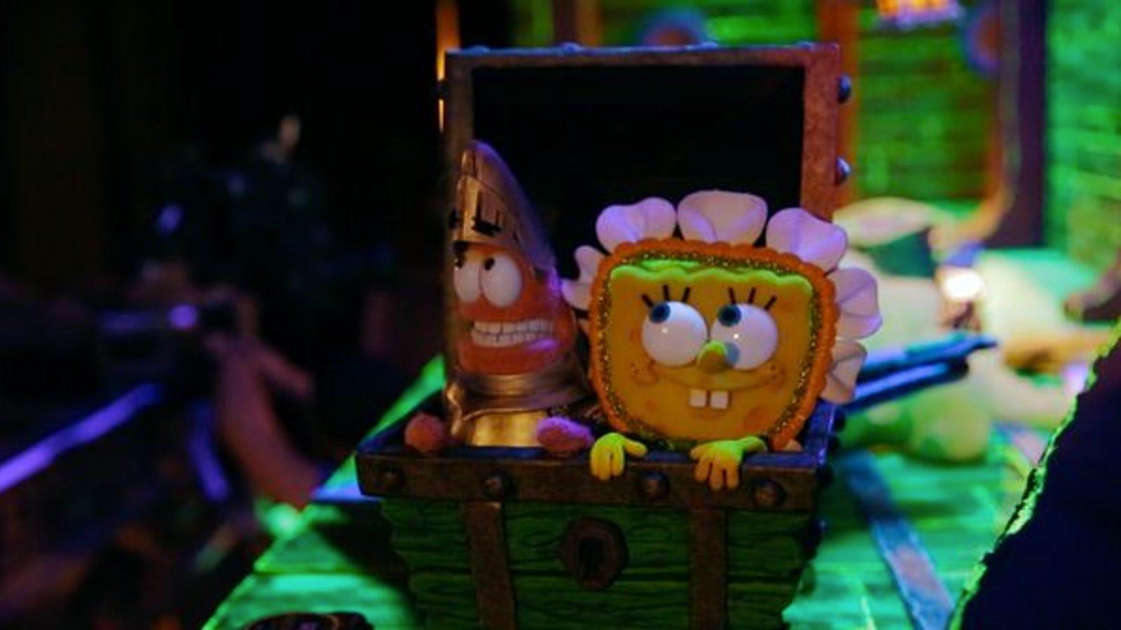behind the scenes of spongebob squarepants' stop-motion halloween
