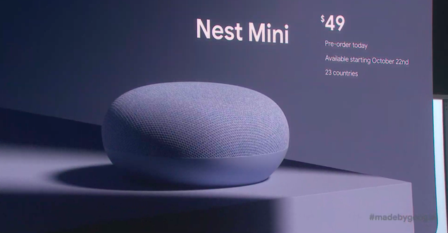 The Google Nest Mini Can Now Hang on Your Wall Like a Piece of Art That s Always Listening to You