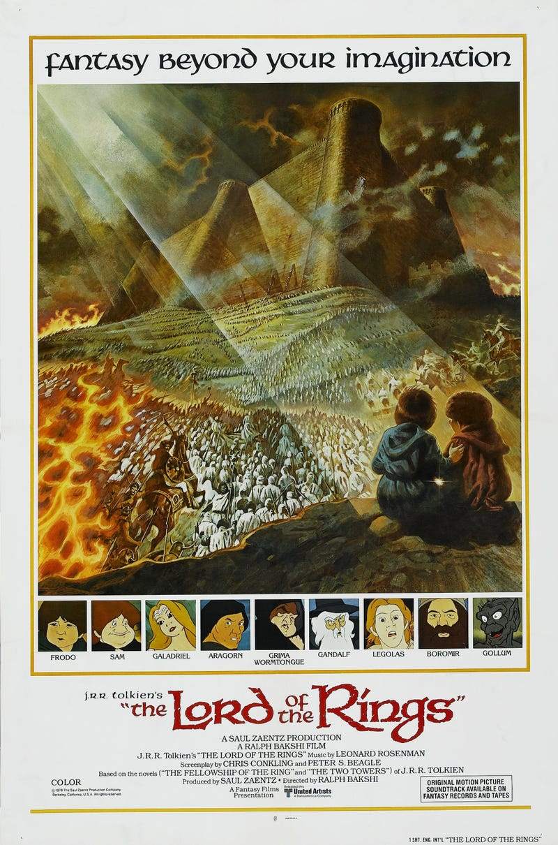Illustration for article titled This Poster For Bakshi's LOTR Looks Like A Scene From Jackson's Movies