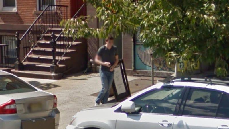 Illustration for article titled Google Street View Car Captures Me Capturing Google Street View Car