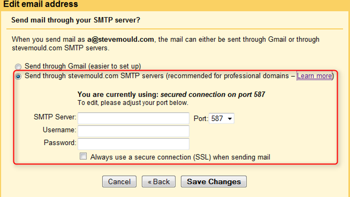 Use a Google Apps Account To Authenticate Outgoing Mail From Your