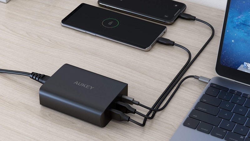 Aukey 60W USB-C PD Desktop Charger With Two USB-A Ports | $36 | Amazon | Promo code AUKPD070