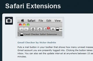 Illustration for article titled Safari Extensions Catalogs Add-Ons for Safari