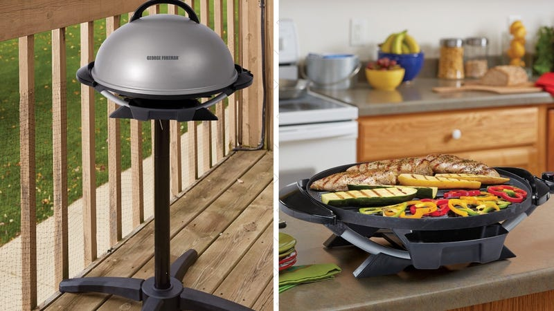 George Foreman Indoor/Outdoor Electric Grill, $85 after 15% coupon.