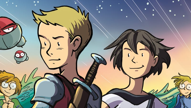 Illustration for article titled Young heroes unite in this Mighty Jack And Zita The Spacegirl first look