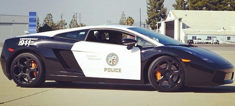Illustration for article titled The LAPD Has A Lamborghini Cop Car Now, Because Charity