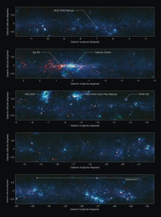 Illustration for article titled New Map Of Our Galactic Disc Reveals Where Future Stars Will Be Born