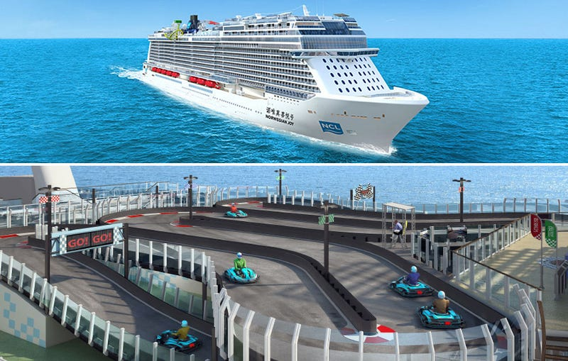 Illustration for article titled The Next Obscenely Monstrous Cruise Ship Will Have an Entire Race Track On It