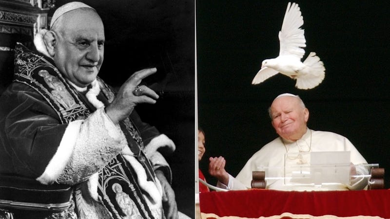 Illustration for article titled Pope John Paul II and Pope John XXIII Get Their Sainthood On