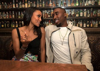 All Eyez on Me actors Annie Ilonzeh and Demetrius Shipp Jr. on May 31, 2017, in Los Angeles (Charley Gallay/Getty Images for Flaunt Magazine)