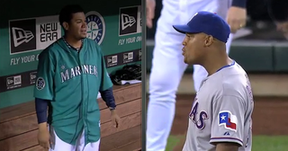 Illustration for article titled Felix Hernandez And Adrian Beltre Spent Last Night's Game Talking Trash