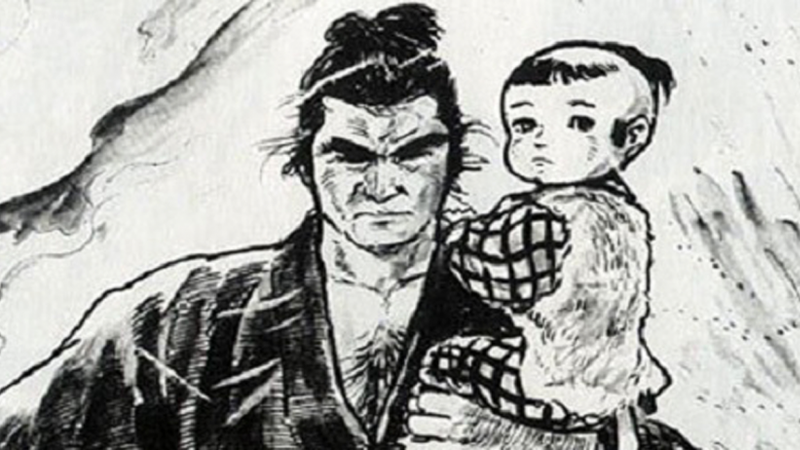 Image: Lone Wolf and Cub art by Goseki Kojima.