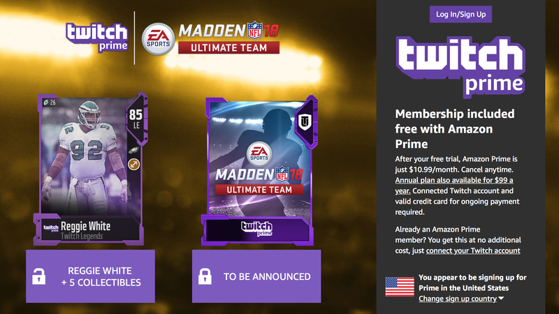 Free Madden Perks With Twitch Prime