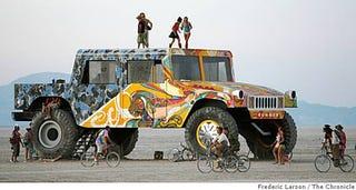 Illustration for article titled Gigantic Burning Man Hummer Is A Bummer