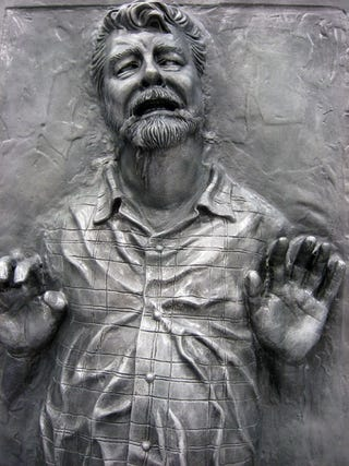 Illustration for article titled George Lucas in Carbonite