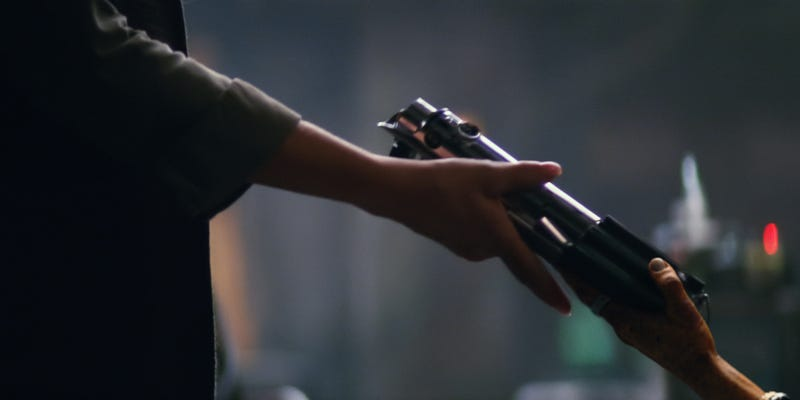 Illustration for article titled J.J. Abrams Explains Why That Lightsaber Shot From the Trailer Isn't in The Force Awakens