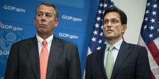 Speaker of the House John Boehner and Majority Leader Eric Cantor (Bill Clark/Getty Images)