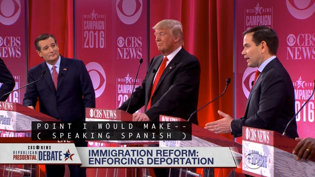 Watch the Republicans Yell at Each Other in Terrible Spanish