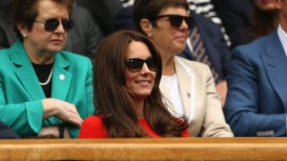 Illustration for article titled Kate Middleton Went to Wimbledon Yet Again, Did Chill Shit