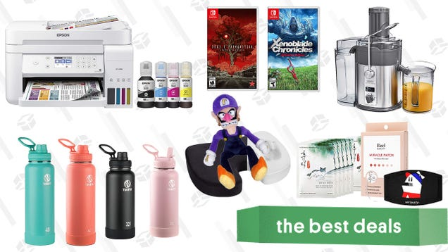 Sunday s Best Deals: Epson EcoTank Inkjet Printers, Deadly Premonition 2, Xenoblade Chronicles Definitive Edition, Crux Artisan Juicer, Takeya Water Bottles, K-Beauty Skincare, and More