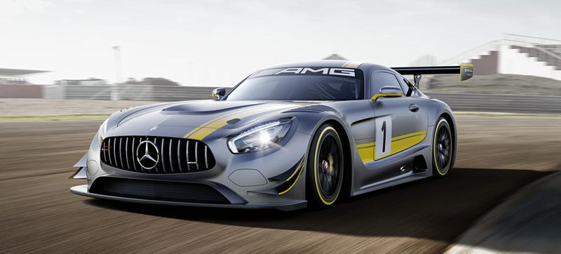 Illustration for article titled The Mercedes-AMG GT3 Goes Old School On Your Ass With A 6.2-Liter V8