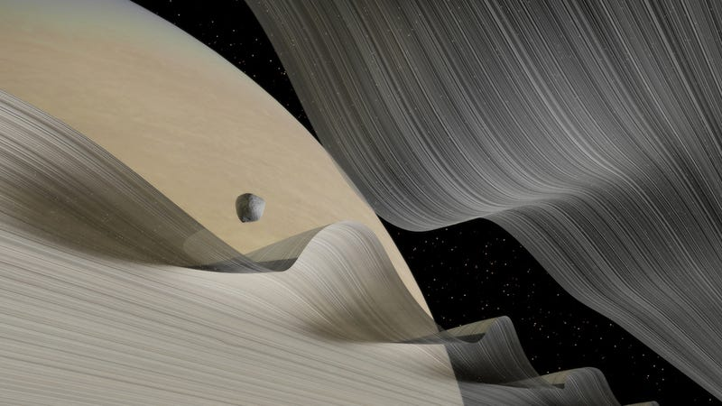 These Images of Saturn's Wavy Rings Hurt My Brain