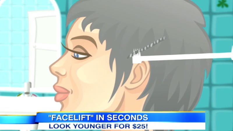 Illustration for article titled 'Facelift Bungee' Takes Facelifts to Extremes But Fails to Help Us Cheat Our Inevitable Deaths