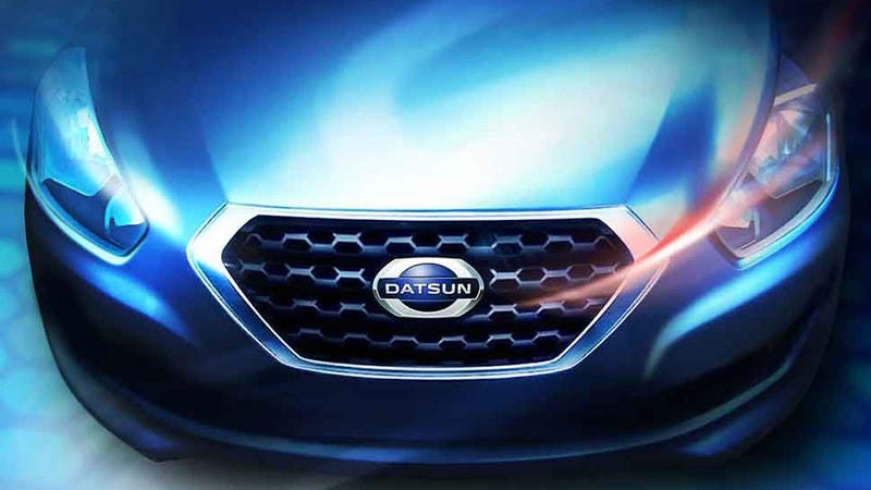 Illustration for article titled Here's What The First New Datsun Will Look Like