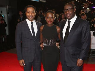 Actors Chiwetel Ejiofor, Lupita Nyong'o and director Steve McQueen attend the European premiere of 12 Years a Slave during the 57th BFI London Film Festival at Odeon Leicester Square on Oct. 18, 2013.Tim P. Whitby/Getty Images for BFI