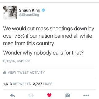 Shaun King's tweetTwitter