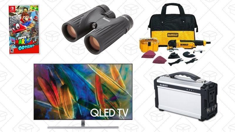 Illustration for article titled Las mejores ofertas de hoy: Set de herramientas Dewalt, batería portátil, televisor Samsung de 65'' y más