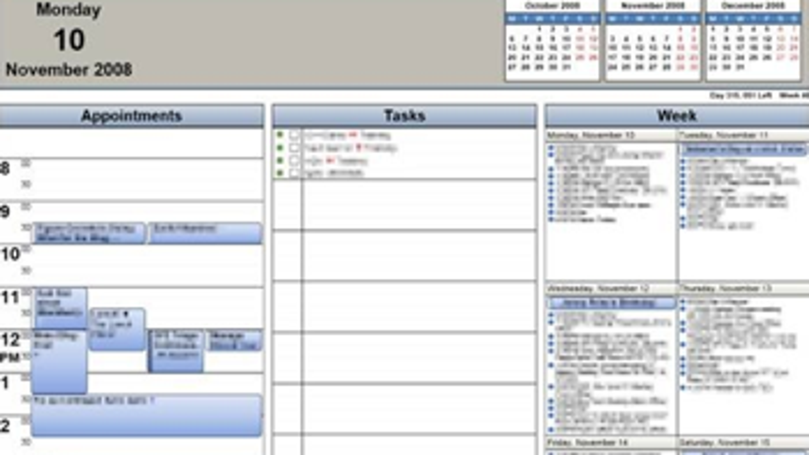Calendar printing assistant prints your outlook 2007 for Outlook calendar printing assistant templates