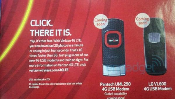 Leaked Verizon LTE Modems