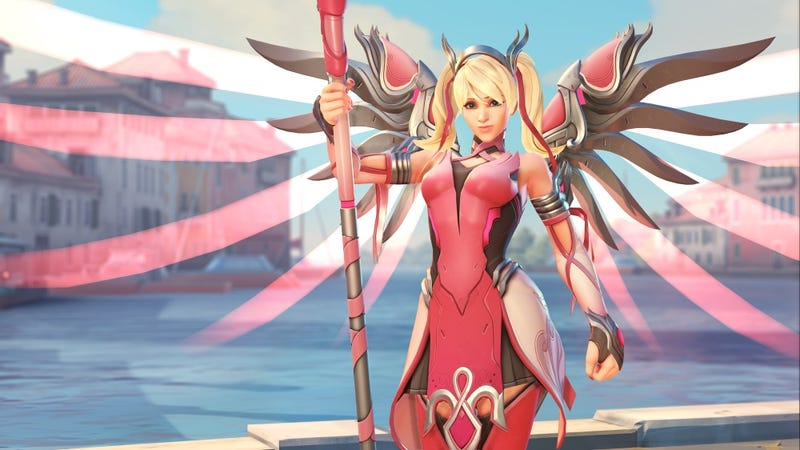 Illustration for article titled Mercy's New Pink Skin a) Is For Charity And b) Looks Amazing